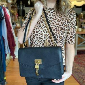 DKNY Elissa Leather Medium Shoulder Flap Handbag